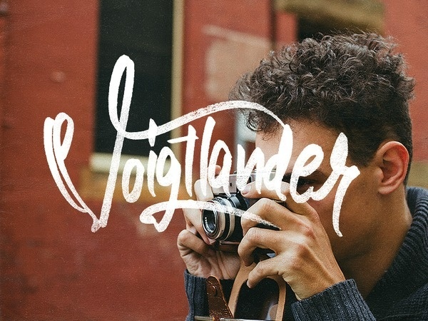 Voigtländer #lettering #dave #coleman #drawn #hand #typography