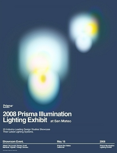 2008 Prisma Illumination Lighting Exhibit Poster | Flickr - Photo Sharing! #swiss #print #grid #poster #helvetica