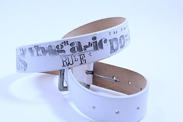 print #type #belt #typography