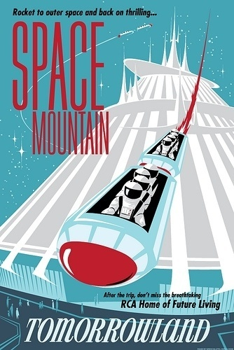All sizes | space mountain | Flickr - Photo Sharing! #1960s #design #poster #disneyland