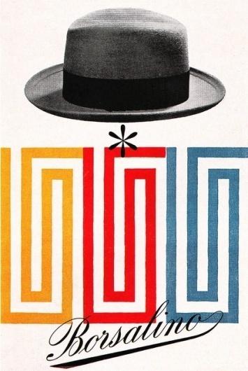 Max Huber Illustration 1   Flickr - Photo Sharing! #max #huber #swiss #hat #mid #poster #century #borsalino
