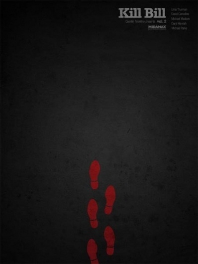 I Watch Stuff - More Tarantino Posters -- In That Minimalist Style That's All the Rage! #design #tarantino #poster #film #minimalist