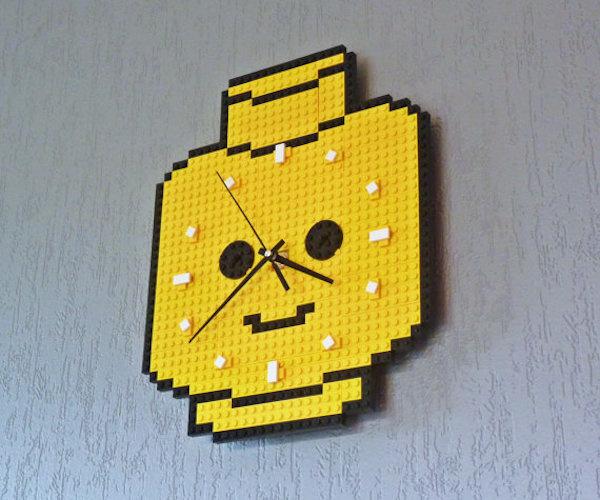 Clock Made Of Lego Bricks – Minifig Head #cool gadget #gadget #gadget flow #gift ideas #tech