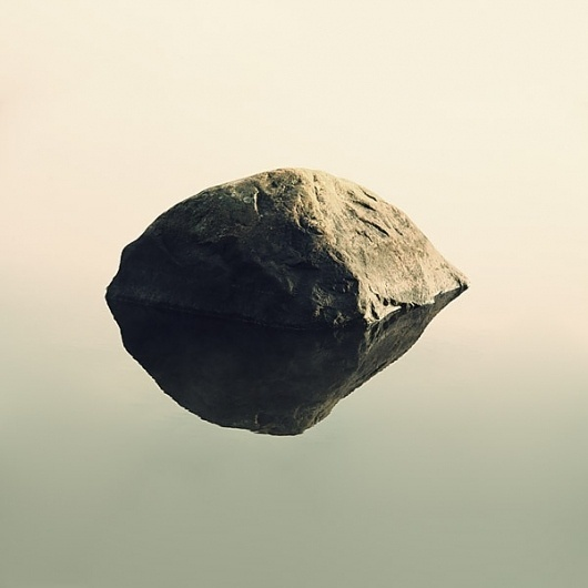 Tuve on the Behance Network #lake #stone #reflection