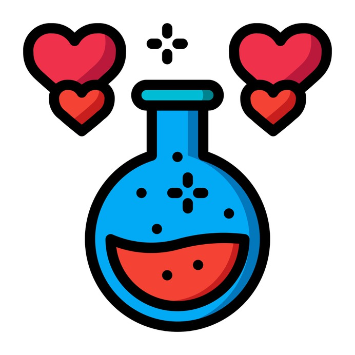 See more icon inspiration related to potion, flask, love potion, love and romance, valentines day, romantic, chemical, chemistry, heart and love on Flaticon.