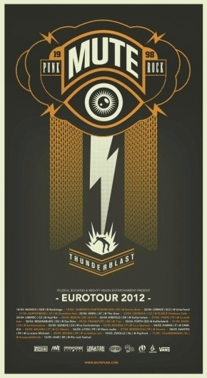 MUTE #mute #vintage #poster #music #tour