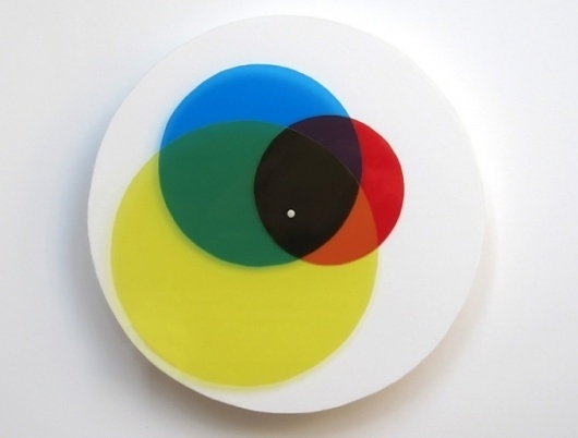 Venn Diagram Clock | Colossal #diagram #design #venn #color #clock #clocks