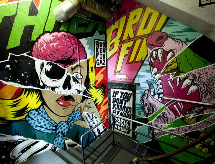 BLDG//WLF #comic #mural #art #pop