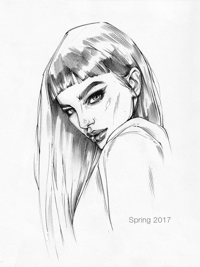 Pencil sketch 6 by AntarcticSpring