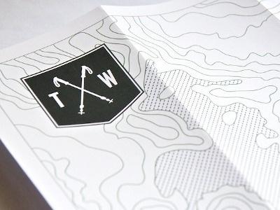 Dribbble - Experience Map (résumé) by Thomas Woodson #branding #map #trail #resume #illustration #identity #topographic #logo
