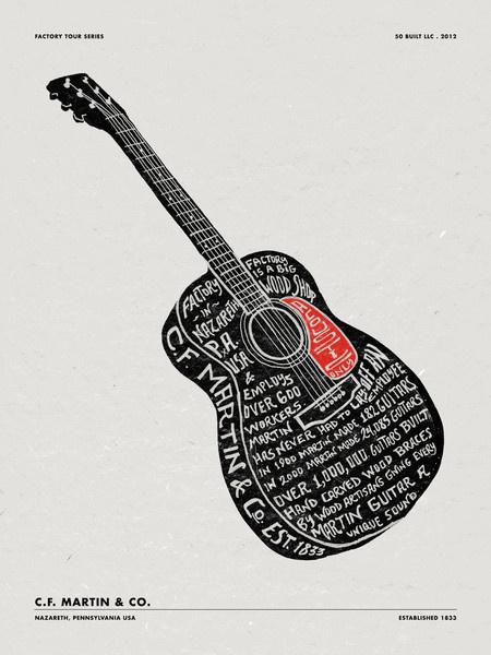 MARTIN GUITARS #guitar #typography