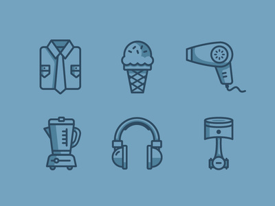 Ecommerce Icons by Justin Schafer for Grain & Mortar.
