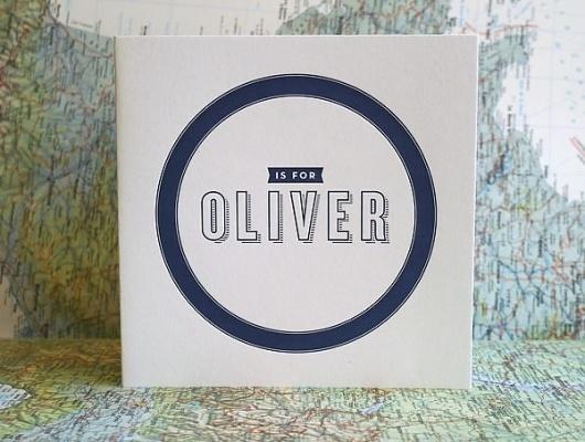 Oliver's Sweet Letterpress Birth Announcements | Invitation Crush #invitation #print #design #announcement #paper #baby