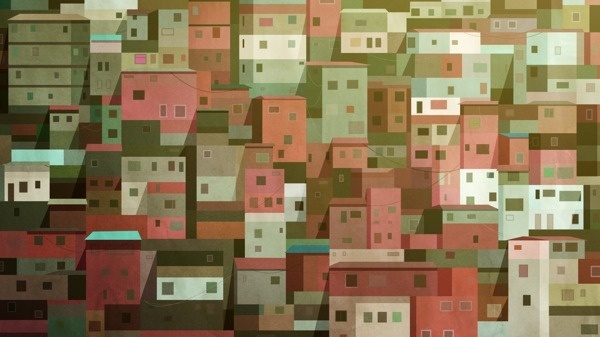 Housing Blocks on Behance #homes #illustration #blocks #windows #buildings #housing