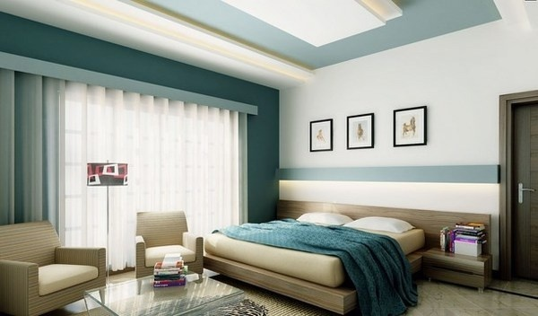 Paintings Over The Bed In Bedroom Interior Decor Art