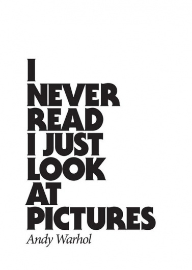 I never read I just look at pictures | Shiro to Kuro #poster #typography