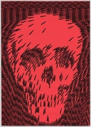 MoMA | The Collection | Shigeo Fukuda. No More. 1968 #silkscreen #more #shigeo #japanese #fukuda #poster #skull #no