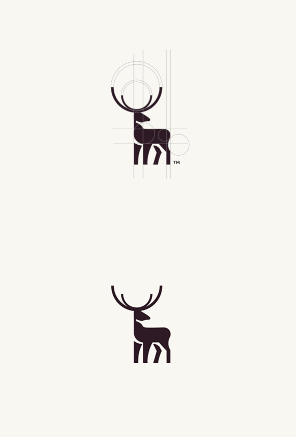 Geometric Animal Logos #logo design #inspiration #geometric #deer