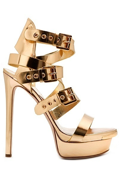 Dsquared2 Women's Accessories 2013 Spring Summer #shoes #woman #shoe #golden #gold #fashion
