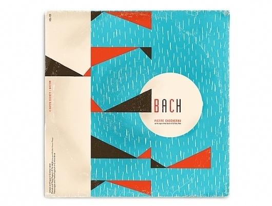 Javier Garcia Design // Work #album #garcia #retro #bach #javier
