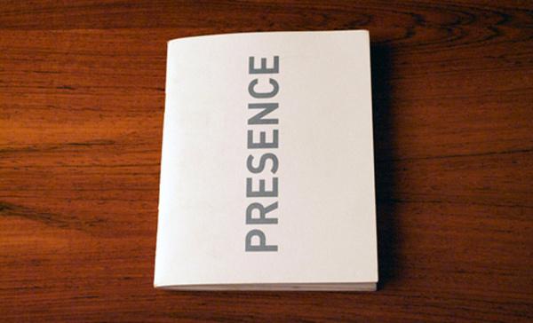 Presence #event #print #publication #schedule #editorial #brochure