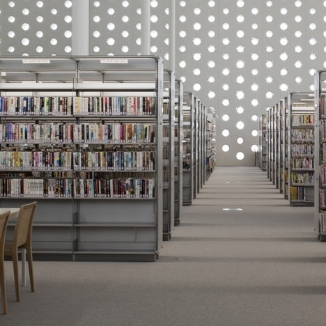 Dezeen » Blog Archive » Kanazawa Umimirai Library by Coelacanth K&H Architects #japan #concrete #architecture #library #holes