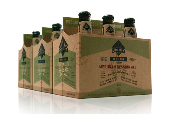 Summit Brewing Company's UnionSeries The Dieline #packaging #beer