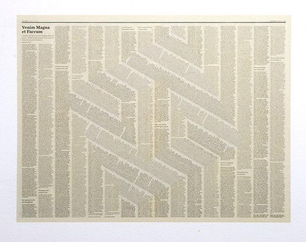 XXX | artruby: Tommy Grace, Faccum (2009) #design #newspaper #editorial #art