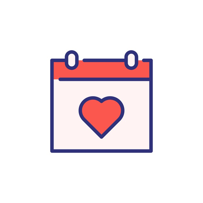 See more icon inspiration related to time and date, love and romance, valentines day, romantic, schedule, administration, date, organization, calendar and time on Flaticon.