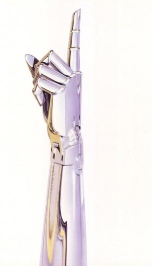 Designersgotoheaven.com by @andreirobuHajime... - Designers Go To Heaven. #robot #illustration #number #one #shiny #arm