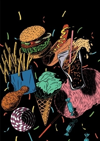Kristian Hammerstad Illustrator #hammerstad #fat #junk #food #illustration #kristian #boys #cola #bitch