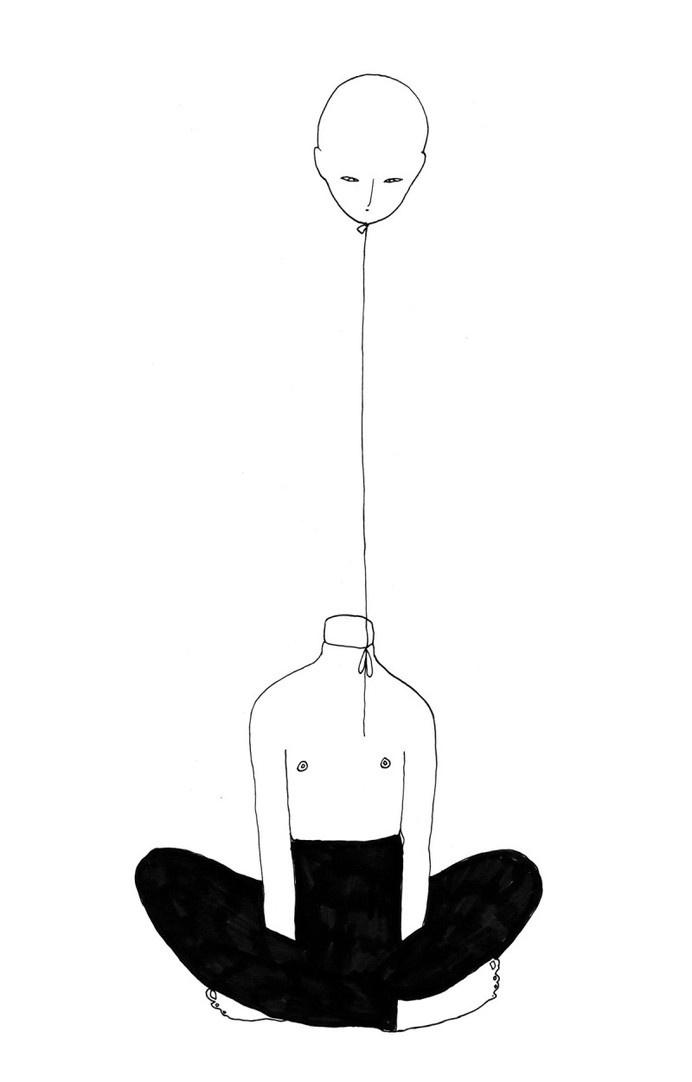 Individuum by Ibou Gueye #individuum #white #gueye #person #black #illustration #drawing #ibou
