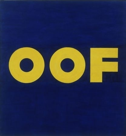 FFFFOUND! | MoMA.org | The Collection | Edward Ruscha. OOF. 1962 (reworked 1963) #typography
