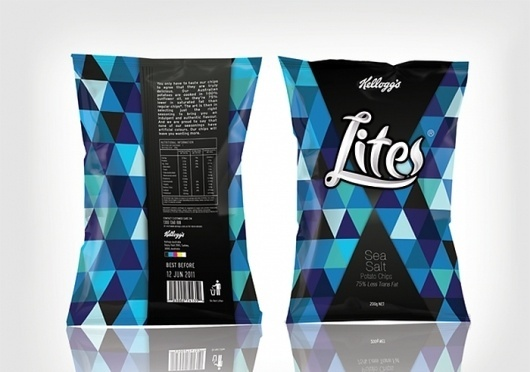 Kellogg's Lite Chips - TheDieline.com - Package Design Blog
