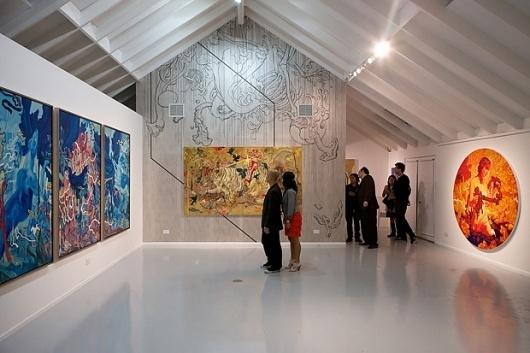 "James Jean ""Rebus"" Exhibition   Hypebeast #james #illustration #painting #art #blue #jean"