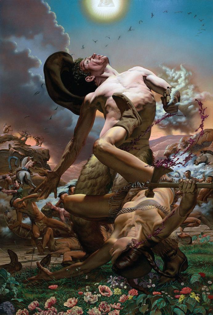 Nicola Verlato: Paintings #kitsch #cowboy