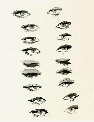 christina vantzou #eye #watercolor #ink