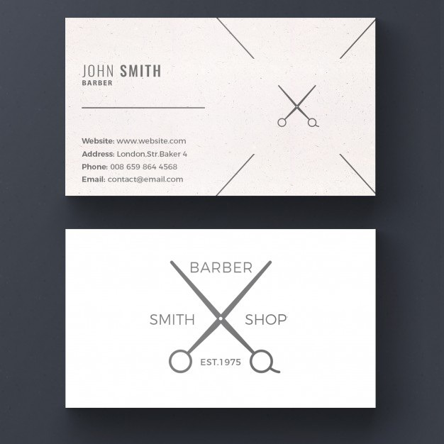 Barber shop business card Free Psd. See more inspiration related to Background, Logo, Business card, Business, Vintage, Abstract, Card, Icon, Template, Office, Visiting card, Hair, Beauty, Retro, Presentation, Shop, Sign, Barber, Stationery, Elegant, Corporate, Company, Modern, Branding, Visit card, Scissors, Salon, Hairdresser, Identity, Mustache, Brand, Hairstyle, Barbershop, Cut, Haircut, Set, Equipment and Stylist on Freepik.