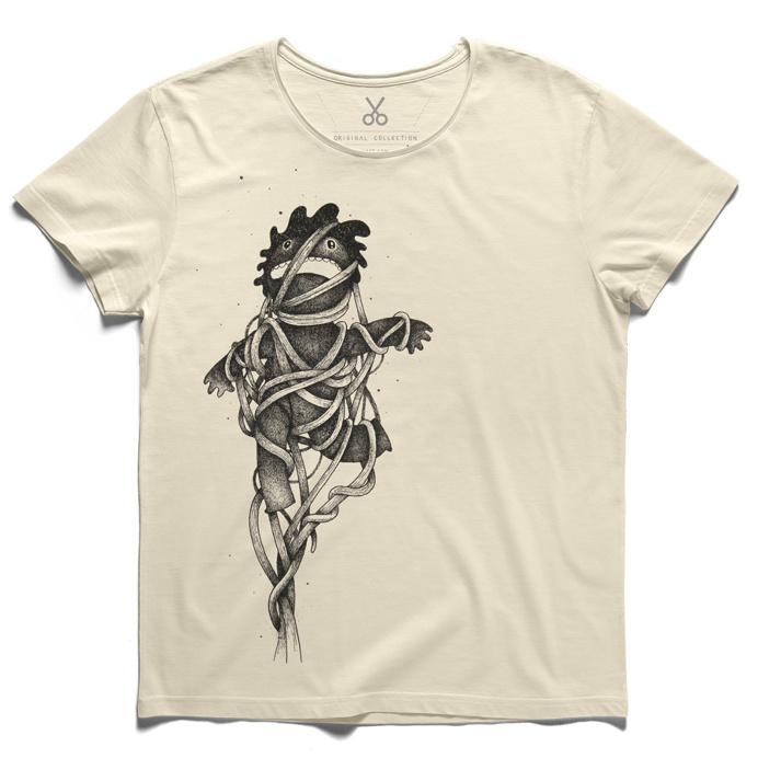 #wired #beige #tee #tshirt #seneca #puppet #oscarilorens #pain #migraine #bounded