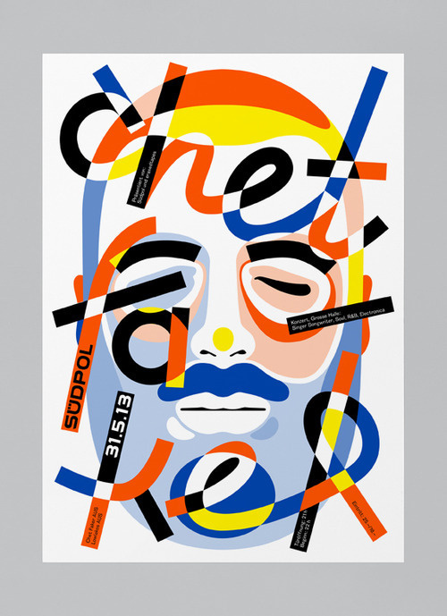 Typeverything.com - Chet by FEIXEN aka Felix Pfäffli. #typhography #color #portrait #poster #music