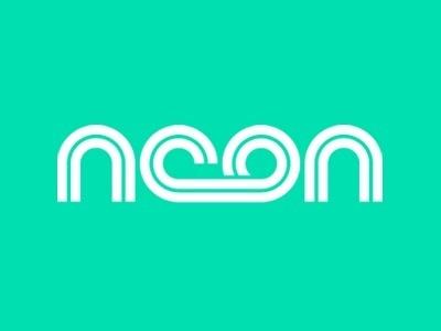 Dribbble - Neon Frog by Justin Haldane #white #typography #logo #noon #green