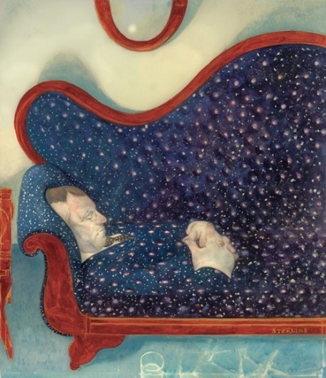 Sterling Hundley - BOOOOOOOM! - CREATE * INSPIRE * COMMUNITY * ART * DESIGN * MUSIC * FILM * PHOTO * PROJECTS #couch #illustration #stars #space