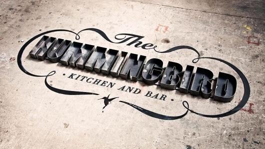 The Hummingbird Kitchen and Bar Logo - Graphic-Exchange #signage #identity