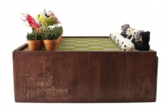 Plants & Zombies - Cecilia Hedin #chess #plants #packaging #crochet #board #design #game #zombies