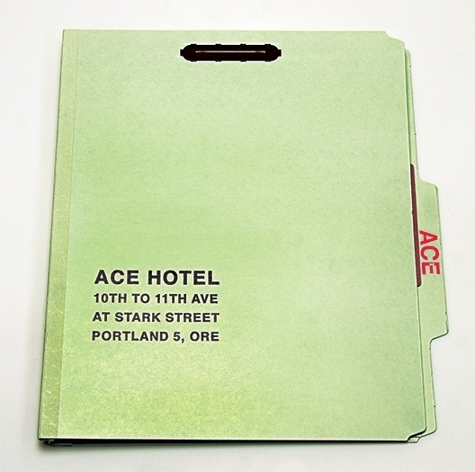 The Official Manufacturing Company / Work / Ace Hotel / Press Kit #ace #hotel #portland #folder
