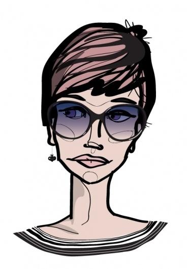 Specialmagazin #illustration #portrait #woman #face #sunglasses #character