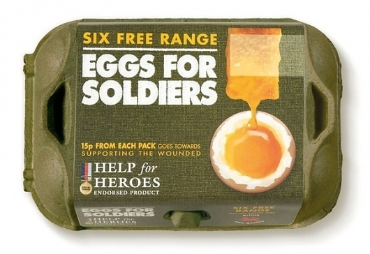 http://pinterest.com/pin/34199278390058100/ #soldiers #packaging #eggs #food #for