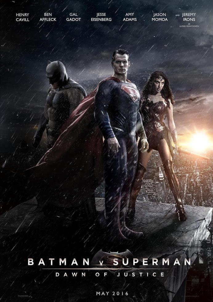 Batman v Superman – Dawn of Justice Movie poster #design #graphic #batman #poster #superman