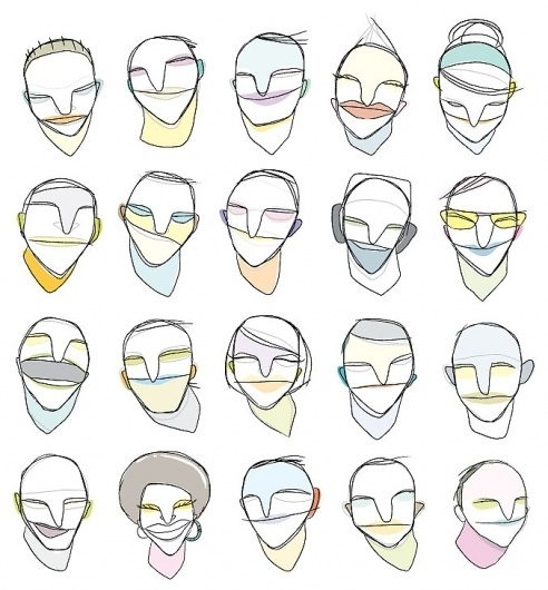 MARIE MAINGUY ➔ Illustrations - #mainguy #illustration #faces #marie