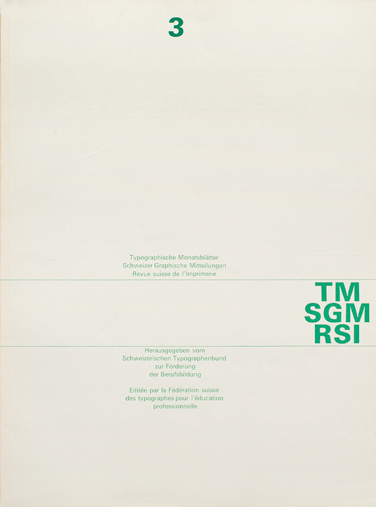 Cover from 1963 Typographische Monatsblätter issue 3